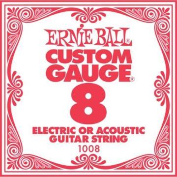 Ernie Ball EB1008 Single Steel Acoustic Electric Guitar String - .008 Gauge