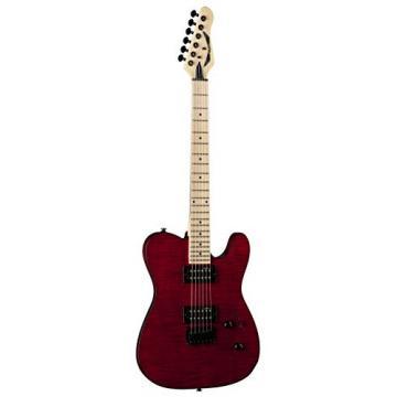 Dean NV FM TRD NashVegas Flame Hum Hum Solid-Body Electric Guitar, Trans Red
