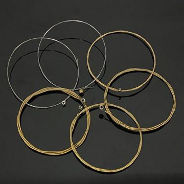 Set of 6 Steel Strings for Acoustic Guitar 150XL 1M