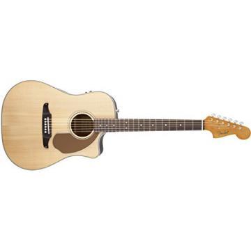 Fender Sonoran SCE Acoustic Electric Guitar, Rosewood Fingerboard, Natural (v2)