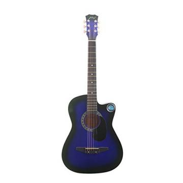 "Blueseason 38"" Acoustic Guitar Beginner Starter Series Package with Bag, Strings, Picks,Blue"