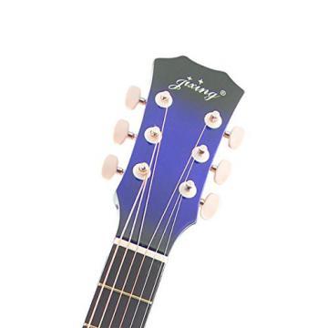 "Blueseason 38"" Acoustic Guitar Beginner Starter Series Package with Bag, Strings, Picks,Blue"