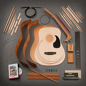 StewMac Build Your Own Dreadnought Acoustic Guitar Kit with Bolt-on Neck, Sitka Top, Mahogany Back & Sides