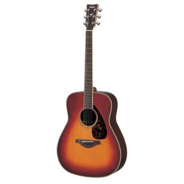 Yamaha FG730S Solid Top Acoustic Guitar - Rosewood, Vintage Cherry Sunburst