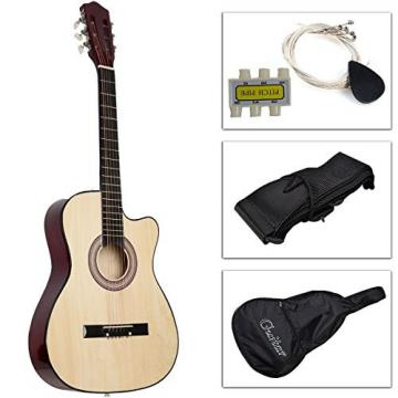 Costzon Beginners Acoustic Guitar With Guitar Case, Strap, Tuner and Pick Beige