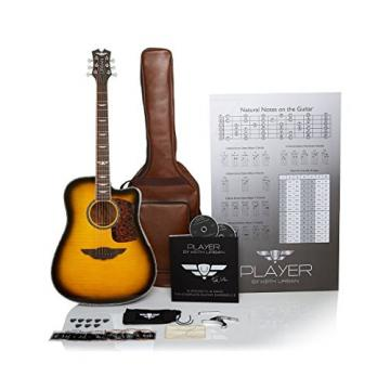 "Keith Urban 50-piece ""PLAYER"" Acoustic Guitar and 30-Lesson Package - Brazilian Burst"
