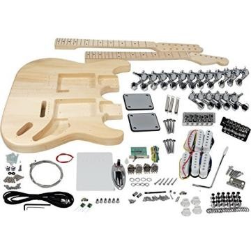 Solo ST Style Double Neck DIY Guitar Kit, Basswood Body, DSTK-1