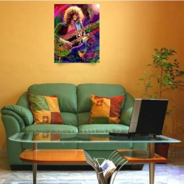 Wall Art Print entitled Jimmy Page Double Neck by David Lloyd Glover