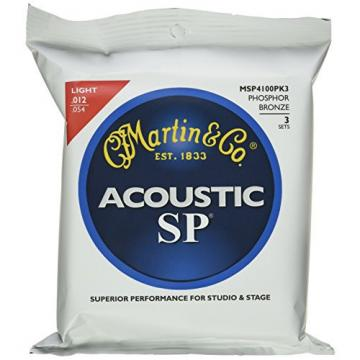 Martin martin guitar strings MSP4100 martin acoustic guitar SP acoustic guitar strings martin Phosphor martin guitars Bronze martin guitar accessories Acoustic Guitar Strings, Light 3 Pack