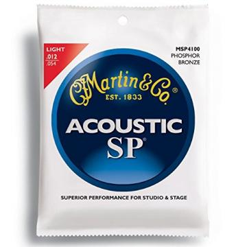 New martin Case martin acoustic guitar strings of acoustic guitar martin (12) martin guitar Sets martin guitar accessories Msp4100 Phosphor Bronze Martin Sp Guitar Strings Light""