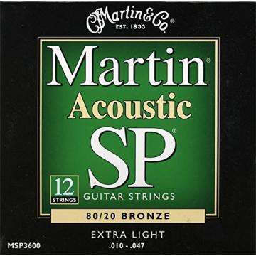 Martin martin guitar accessories MSP3600 martin strings acoustic SP acoustic guitar martin 80/20 martin acoustic strings Bronze dreadnought acoustic guitar 12-String Acoustic Guitar Strings, Extra Light
