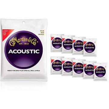Martin martin acoustic guitars M140 martin guitar accessories 80/20 martin guitar strings Bronze guitar strings martin Light martin guitar strings acoustic 10-Pack Acoustic Guitar Strings