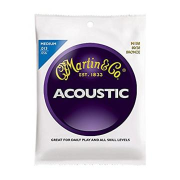 Martin martin strings acoustic M150 martin acoustic guitar 80/20 martin d45 Bronze martin guitars Round acoustic guitar strings martin Wound Medium Acoustic Guitar Strings