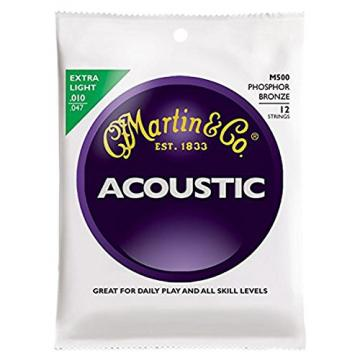 Martin guitar martin M500 martin guitars Phosphor martin guitars acoustic Bronze martin acoustic guitar 12-String martin guitar Acoustic Guitar Strings, Extra Light