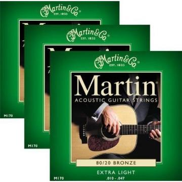 3 martin guitar accessories Pack guitar strings martin - martin acoustic guitar Martin martin guitar strings M170 martin 80/20 Bronze Acoustic Guitar Strings Set - Extra Light
