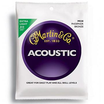 Martin acoustic guitar martin M530 martin acoustic guitar strings Phosphor martin Bronze dreadnought acoustic guitar Acoustic martin guitar strings Guitar Strings, Extra Light