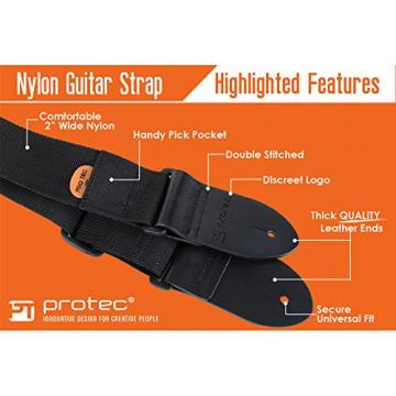 Protec martin acoustic guitars Guitar martin guitar strings acoustic Strap martin guitars acoustic with martin Leather martin acoustic strings Ends and Pick Pocket, Black