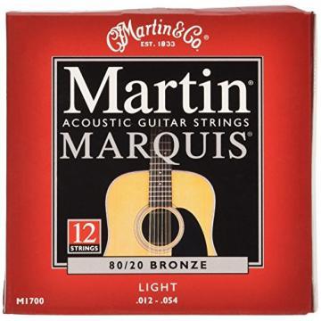 Martin martin guitar M1700 martin strings acoustic Marquis martin guitar strings 80/20 martin acoustic guitar strings Bronze martin acoustic guitar 12-String Acoustic Guitar Strings, Light