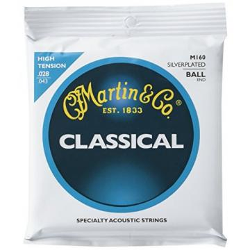 Martin acoustic guitar strings martin M160 guitar strings martin Silverplated martin guitars acoustic Ball martin guitar End martin Classical Guitar Strings, High Tension