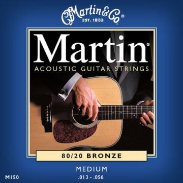 Martin martin acoustic strings M150 martin guitars acoustic Traditional acoustic guitar martin 80/20 guitar martin Bronze guitar strings martin Acoustic Guitar Strings, Medium, 13-56 (2 Pack)