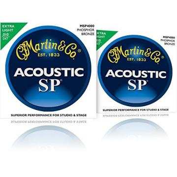 Martin guitar martin MSP4000 martin acoustic strings SP martin guitar strings acoustic medium Phosphor martin acoustic guitars Bronze martin guitar strings Extra Light Acoustic Guitar Strings (2 Pack)