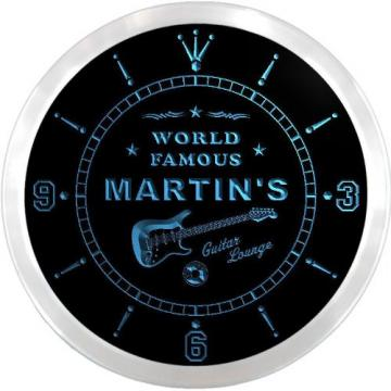 ncpf1016-b martin MARTIN'S martin acoustic guitar strings Famous martin acoustic guitars Guitar martin d45 Lounge martin guitar case Beer Pub LED Neon Sign Wall Clock