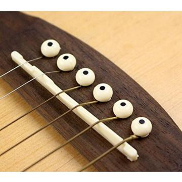 Acoustic martin guitar strings acoustic medium Guitar martin guitars Cream martin acoustic guitar strings Bridge martin acoustic guitars Pins martin guitar case With Black Dot(Pack Of 6)