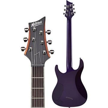 Mitchell MD400 Modern Rock Double-Cutaway Electric Guitar Purple