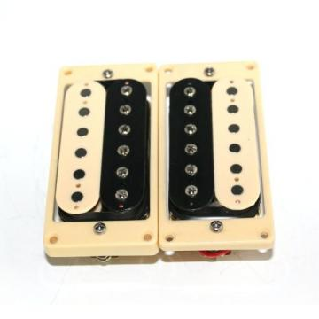 Surfing Humbucker Double Coil Pickup w/ Cream Frame Set for ST SG Electric Guitar