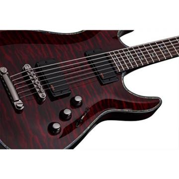 Schecter HELLRAISER C-VI Baritone 6-String Electric Guitar, Black Cherry
