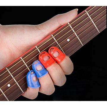 10PCS martin acoustic guitars Fireboomoon dreadnought acoustic guitar mixed martin guitar color martin guitar case Large martin guitar strings Medium Small Size Guitar Fingertip Protectors Silicone Finger Guards for Ukulele Electric Guitar. (Three Size)