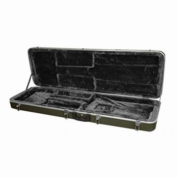 Bass Guitar Case—Hard Durable ABS Shell with Carrying Handle, Plush Lined Rigid Foam Interior and Key-Locking Center Latch, Gunmetal Gray by Phitz