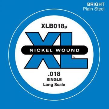 D'Addario XLB018P Plain Steel Bass Guitar Single String, Long Scale, .018