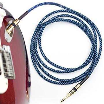 Rig Ninja Guitar Cable - Premium Musical Instruments Cable, Electric Guitar & Bass Guitar Cord - 10ft Recording Studio Quality Guitars & Bass Amp Cord, Heavy Duty Guitar Cords for Guitar Amps