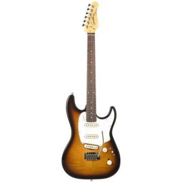 Godin Progression Vintage Burst Flame Electric Guitar, Rosewood Neck