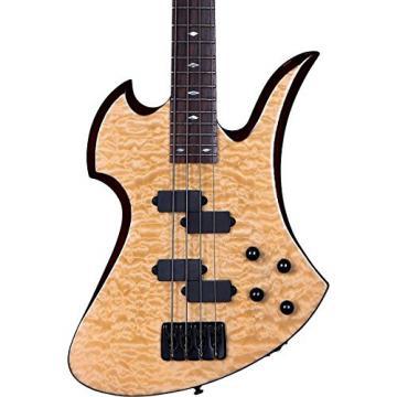 B.C. Rich MK3B Mockingbird Quilted Maple Electric Bass Guitar Gloss Natural
