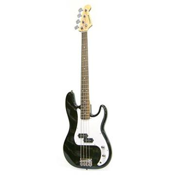 Crestwood Bass Guitar 4 String Black P-Style