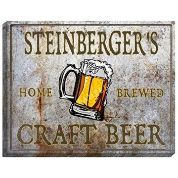 STEINBERGER'S Craft Beer Stretched Canvas Sign