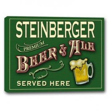 "STEINBERGER Beer & Ale Stretched Canvas Sign - 16"" x 20"""