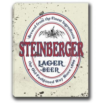 "STEINBERGER Lager Beer Stretched Canvas Sign - 16"" x 20"""