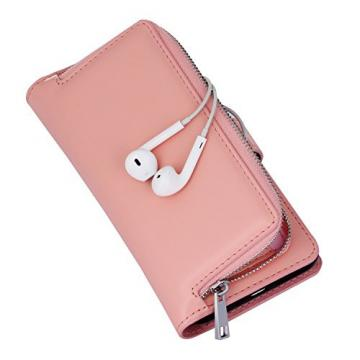 Bonice Case Cover for Samsung S7 Edge, Detachable Premium Leather Magnetic Folio Zipper Protective Phone Wallet Case with Multiple Card Slots Extra Wallet Storage for Samsung Galaxy S7 Edge - Pink