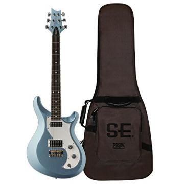 PRS V2PD15_IF S2 Vela Electric Guitar, Ice Blue Fire Mist with Dot Inlays & Gig Bag