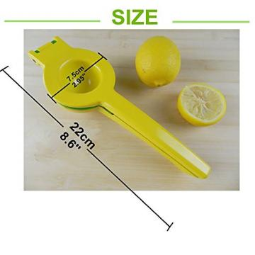 Lemon Squeezer | Premium Quality Metal Lemon Lime Squeezer | Manual Citrus Press Juicer | Fruit Press Works for Limes and Oranges No Pulp or Seeds | 2-Bowl-in-1