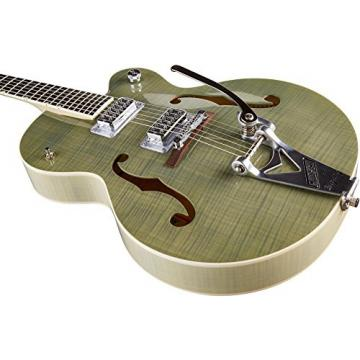 Gretsch Guitars G6120SH Brian Setzer Hot Rod Flame Maple Body Semi-Hollow Electric Guitar Highland Green 2-Tone