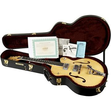 Gretsch Guitars G6120SH Brian Setzer Hot Rod Flame Maple Body Semi-Hollow Electric Guitar Blonde