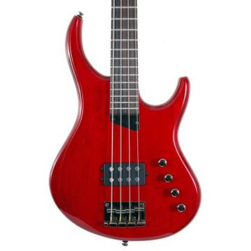 "MTD Kingston ""The Artist"" Bass Guitar (4 String, Rosewood, Transparent Cherry)"