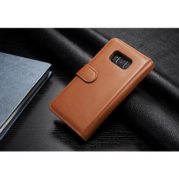 Galaxy S8 Plus Cases, Bonice Premium Leather Magnetic Detachable Folio Zipper Protective Phone Wallet Case with Multiple Card Slots Extra Wallet Storage for Samsung Galaxy S8+ Plus - Brown