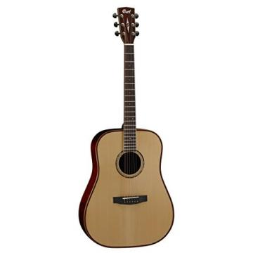 Cort AS-E4 NAT Solid Spruce Top Dreadnought Acoustic Guitar Solid Mahogany Back & Sides with Case