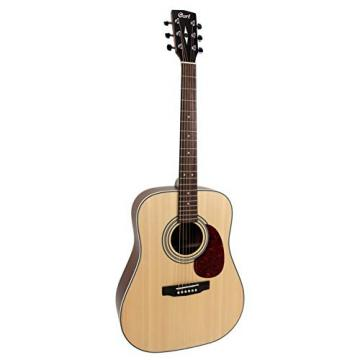 Cort EARTH70OP Dreadnought Acoustic Guitar Solid Spruce Top, Natural Open Pore