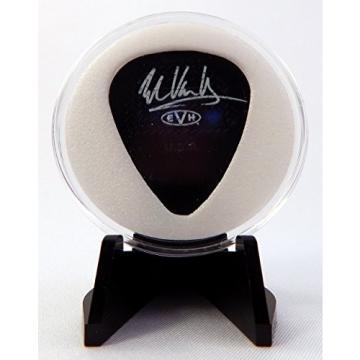 EVH Eddie Van Halen Circle Guitar Pick With MADE IN USA Display Case & Easel